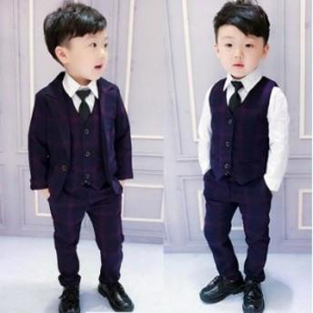 フォーマル 男の子 子供 スーツ 子供服 卒業式 七五三 結婚式 入学式 発表会 男の子用スーツ 3点セット 男の子 スー ツ フォーマル