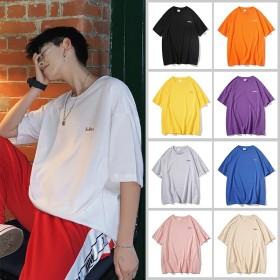 2019 新作 韓国ファッション ビッグTシャツ 半袖 メンズ 無地 オーバーサイズ 大きいサイズ ビックTシャツ 男女兼用 人気商品 個性 シンプル Tシャツ