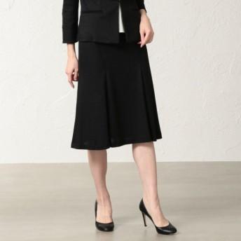 SALE【トランスワーク(TRANS WORK)】 【美Skirt】【セットアップ対応】ラミーカノコスカート ブラック