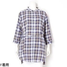 [マルイ]【セール】【大きいサイズ】チェックのシャツワンピース/アルディラ(AL・DI・LA)