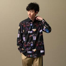 【ギルドプライム(GUILD PRIME)】 【Education from Youngmachines】MEN JIRO KONAMIコラボシャツ ブラック