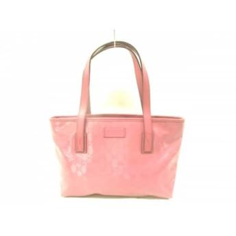 【中古】 グッチ GUCCI ショルダーバッグ 美品 インプリメ 211138 ピンク PVC(塩化ビニール) レザー