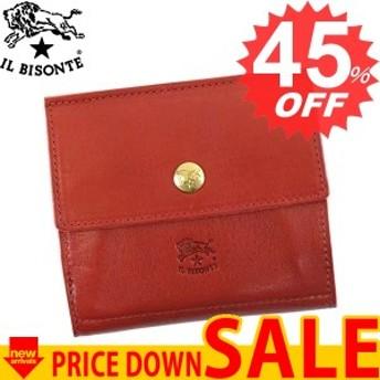 イルビゾンテ 財布 二つ折り財布 IL BISONTE C0910 COWHIDE WALLET 245 RUBY RED P COWHIDE LEATHER 比較参照価格25,000 円