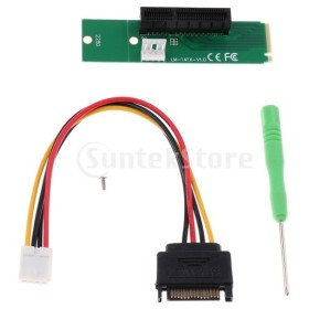 B Baosity M.2 NGFF→ PCI-e X1 X4アダプタライザーカード 4ピン 電源ケーブル  PC用