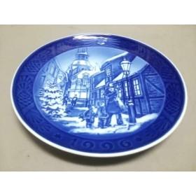 【中古】 ロイヤルコペンハーゲン ROYAL COPENHAGEN プレート 新品同様 ブルー 1996イヤープレート 陶器