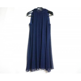 【中古】 ラデファンス La Defence ドレス サイズ9 M レディース 美品 ネイビー