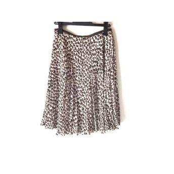 【中古】 ジユウク スカート サイズ38 M レディース ベージュ ダークブラウン ライトブラウン 豹柄