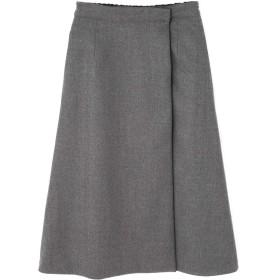 アドーア ADORE リバーシブルウールスカート ネイビーxグレー 36【税込10,800円以上購入で送料無料】