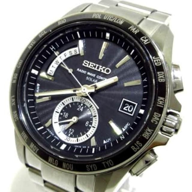a8f603e280 中古】 セイコー SEIKO 腕時計 ブライツ 8B54-0BB0 メンズ 黒 通販 LINE ...