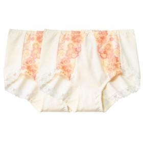 綿混ストレッチ刺しゅうレースショーツ2枚組 スタンダードショーツ,Panties