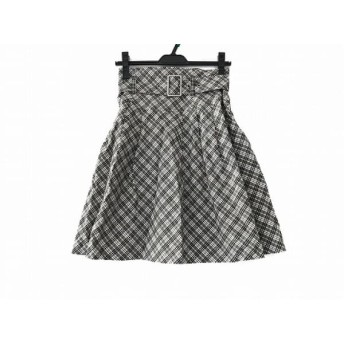 【中古】 バーバリーブルーレーベル スカート サイズ36 S レディース 美品 グレー マルチ チェック柄