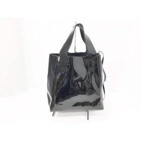 【中古】 プラダ PRADA ハンドバッグ - 黒 エナメル(レザー)