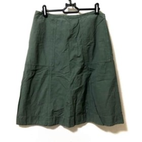 【中古】 マーガレットハウエル MHL. スカート サイズ3 L レディース カーキ