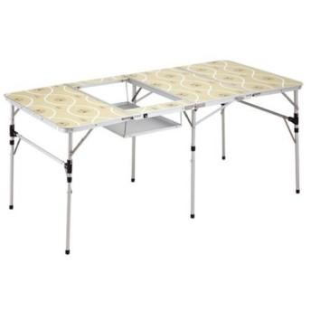 コールマン(Coleman) アウトドア スリム四折BBQテーブル 170-7638 ローテーブル コンパクト 持ち運び キャンプ バーベキュー 花見 フェス