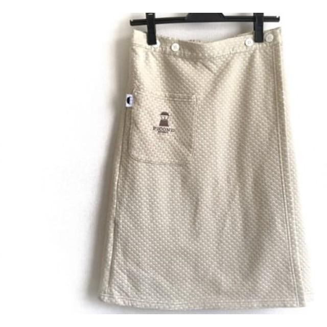 【中古】 ピッコーネ PICONE 巻きスカート サイズM レディース ベージュ アイボリー ドット柄