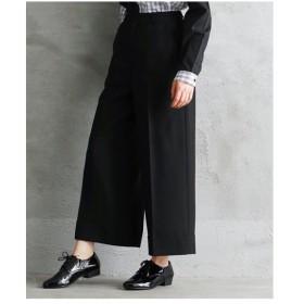 パンツ ワイド ガウチョ 大きいサイズ レディース 裾折り返しデザインワイド  LL/3L ニッセン