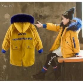 子供服 デニム コート フード付き 女の子 ロング丈 デニム ジャケット 裹起毛 子ども 防寒 アウター 冬服 暖かい か わいい キッズ