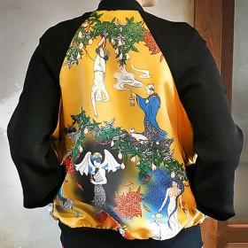 タロット柄の植毛刺繍ブルゾン