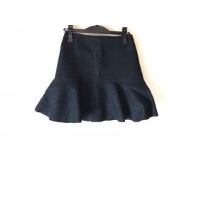 【中古】 ラウラ Laula スカート サイズ2 M レディース ダークグリーン ダークネイビー