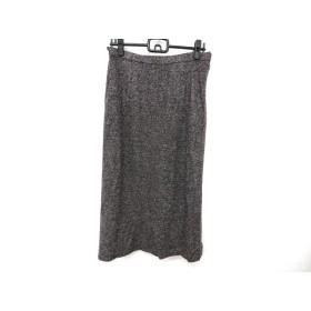 【中古】 レリアン Leilian スカート サイズ13+ S レディース ダークブラウン ライトグレー
