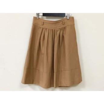 【中古】 ジャスグリッティー JUSGLITTY スカート サイズ2 M レディース ブラウン