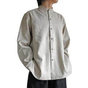ヘンプのバンデッドカラーシャツジャケット(BFS-006)