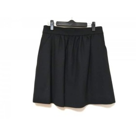 【中古】 バレンチノ R.E.D VALENTINO スカート サイズ40 M レディース 黒
