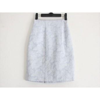 【中古】 ジャスグリッティー JUSGLITTY スカート サイズ0 XS レディース ライトブルー 白 ラメ/刺繍