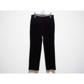 【中古】 バーバリーブラックレーベル Burberry Black Label パンツ サイズW76 メンズ 黒 ベロア