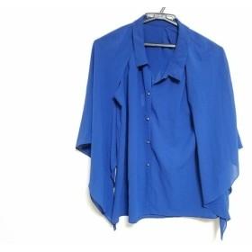【中古】 ジャスグリッティー JUSGLITTY 七分袖シャツブラウス サイズ2 M レディース ブルー