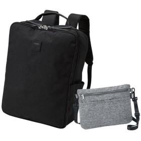 サコッシュバッグ付き多機能リュック(アネロ)(AT-C2241) ■カラー:ブラック