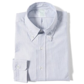 Brooks Brothers / オックスフォード ベンガルストライプ ボタンダウンシャツ メンズ カジュアルシャツ LT. BLUE/100058219 14.5