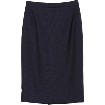 AKIKO OGAWA. [アキコオガワ] ウールシャンブレースカート スーツ・セットアップ/スカート,ネイビー