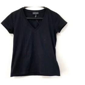 【中古】 エンポリオアルマーニ EMPORIOARMANI 半袖Tシャツ サイズ38 S レディース 黒