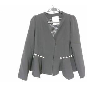 【中古】チェスティ Chesty ジャケット サイズ1 S レディース 美品 パールジャケット 12S402 黒x白
