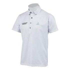 (セール)(送料無料)le coq GOLF(ルコックゴルフ) ゴルフ 半袖ポロ 半袖ハイネック ジャカードポロシャツ QGMNJA04 メンズ WH00