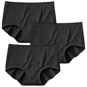 アウターにひびきにくい。綿混ストレッチ深ばきショーツ3枚組 スタンダードショーツ,Panties