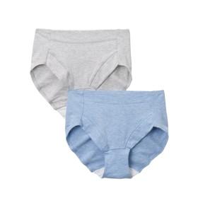 【WEB限定】綿混ストレッチお腹脚口らくちんショーツ2枚組 スタンダードショーツ,Panties