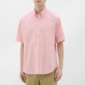 (GU)オックスフォードシャツ(半袖) PINK L