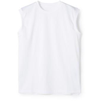 ESTNATION / コットンスムースノースリーブカットソー オフホワイト/38(エストネーション)◆レディース Tシャツ/カットソー