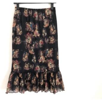 【中古】ゴルチエ JeanPaulGAULTIER スカート サイズ40 M レディース 黒xブラウンxマルチ