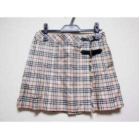 【中古】 バーバリーブルーレーベル 巻きスカート サイズ38 M レディース ベージュ 黒 マルチ