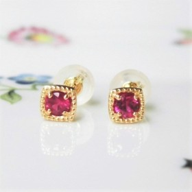 K18 Ruby pierced earrings