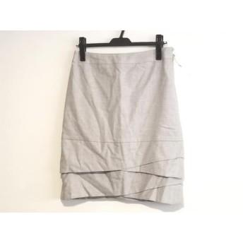 【中古】 ニジュウサンク 23区 スカート サイズ40 M レディース ライトグレー
