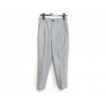 【中古】 マカフィ MACPHEE パンツ サイズ36 S レディース 美品 ライトグレー