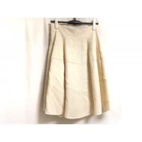 【中古】 フォクシー FOXEY スカート サイズ40 M レディース ベルフラワー 28024 アイボリー 2011年