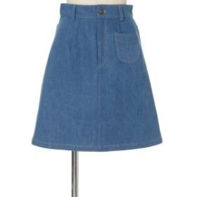 フィント(FINT)/ポケット使いデニム台形スカート/F i.n.t