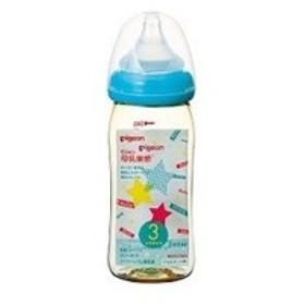 母乳実感哺乳ビン プラスチック スター柄 240ml ピジョン PIGEON ベビー・キッズ用品