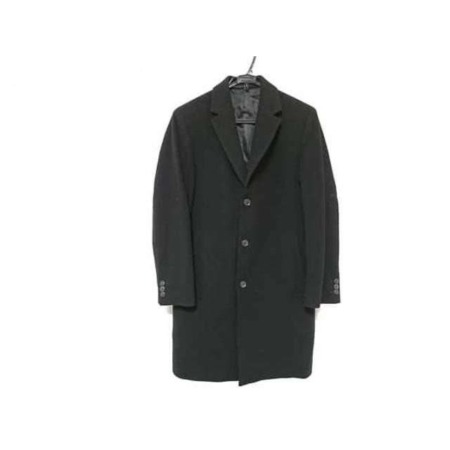 【中古】 ヒューゴボス HUGOBOSS コート メンズ 美品 黒 カシミヤ/冬物