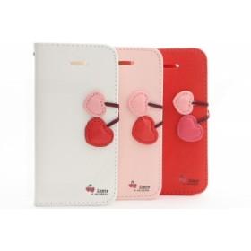 iPhoneX ケース 手帳型 全3色 かわいい さくらんぼ カバー 耐衝撃 財布 スマホケース おしゃれ アイフォンX 【W515】「日本小売センター」